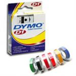 Dymo Tape 12mm x 7mm White on Black
