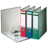 Leitz Paper On Board Lever Arch Files Green 80mm