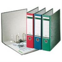 Leitz Paper On Board Lever Arch Files Red 80mm