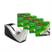 Scotch Magic Tape Wave Dispenser with 4 Rolls of Tape