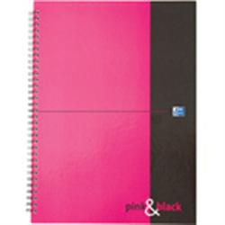 Oxford Pink & Black Manuscript Book A4 Wirebound