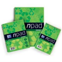 A4 Note Pad Soft Cover Recycled Wirebound Bound