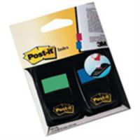 Post It Standard Index 25mm Dual Blister Green and Blue