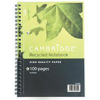 Cambridge Note A5 Recycle Ruled with Margin Wirebound Books -  ( 15004 )