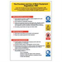 Health & Safety Poster-Provision Of Work Equipment