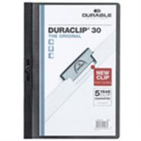 Durable Duraclip 3mm A4 Folder Black