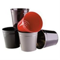 Avery Round Metal Waste Bin Red