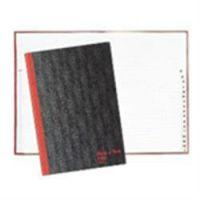 Black n Red Casebound Book A5 Index A-Z
