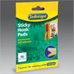 Sellotape Sticky Velcro 96 Hook Tabs