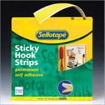 Sellotape Sticky Velcro Hooks Roll W25mm x L10m