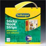 Sellotape Sticky Velcro Hooks Roll W25mm x L10m