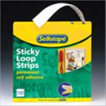 Sellotape Sticky Velcro Loops Roll W25mm x L10m