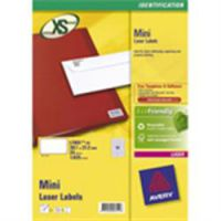 Avery Mini Laser Labels White 38.1 x 21.2mm L7651-25