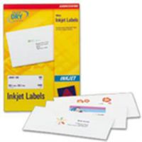 Avery White Ink jet Labels 63.5 x 38.1mm