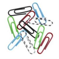 Coloured Paper Clips Large Plain