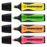Stabilo Boss Executive Highlighters Yellow Orange Green Pink